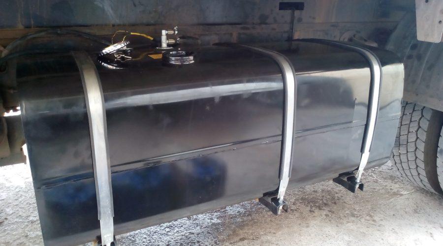 установка топливного бака